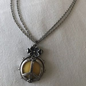 Jewelry - Silver and yellow peace necklace